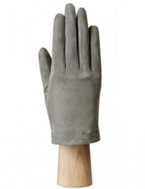 Зимние кожаные женские перчатки подкладка из шелка IS02011 d.grey (Eleganzza)