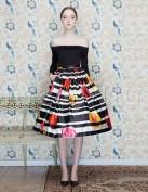 Черно-белое платье с широкой юбкой Dolce and Gabbana