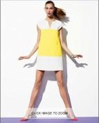 Желто-белое платье свободного кроя из хлопка Kate Spade