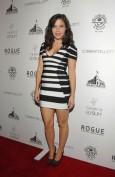 Черно-белое полосатое бандажное платье Herve Leger