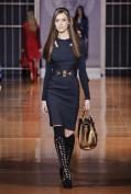 Темно-синее облегающее платье Versace