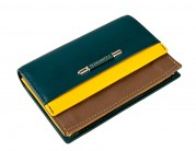 Визитница ZD3119-2984 green/yellow/khaki (Eleganzza)