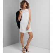 Платье прямого покроя с прозрачным верхом без рукавов