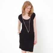 Платье с драпировкой, 100% льна