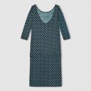 Платье из трикотажа с рисунком, с декольте на спине