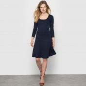 Платье из трикотажа милано с длинными рукавами