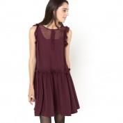 Платье со вставками из вуали Soft Grey