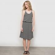 Платье в полоску с открытыми плечами