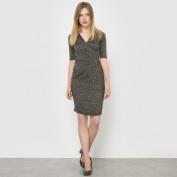 Платье трикотажное с рукавами 3/4 и рисунком