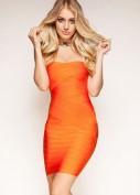 Оранжевое бандажное платье-бюстье Herve Leger