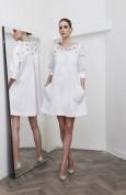 Стильное белое платье с большими карманами Christian Dior