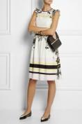 Грациозное белое платье в стиле ретро Roberto Cavalli