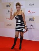 Облегающее черно-белое бандажное платье Herve Leger