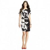 Стильное черно-белое платье на каждый день Anne Klein