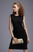 Теплое черное платье-футляр Chanel