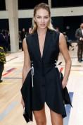 Стильное черное платье-пиджак со шнуровкой Christian Dior