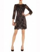 Коктейльное черное платье из тонкой сеточки Asos