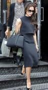 Стильное черное платье на каждый день Victoria Beckham