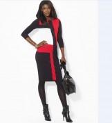 Трикотажное черное платье с длинным рукавом Ralph Lauren