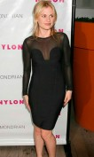 Элегантное черное платье с прозрачными рукавами Herve Leger