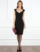 Элегантное черное платье с вырезом сердечком Coast