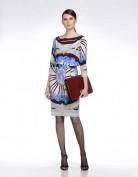 Серое дизайнерское платье Emilio Pucci