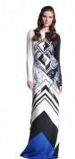 Восхитительное длинное белое платье с принтом Emilio Pucci