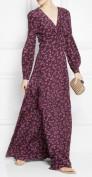 Великолепное длинное коричневое шелковое платье Gucci