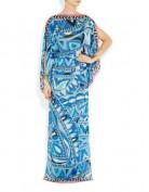 Длинное голубое платье в греческом стиле Emilio Pucci
