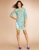 Свободное и легкое бирюзовое платье Emilio Pucci