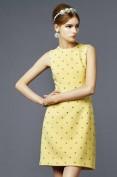 Легкое и невесомое короткое желтое платье Dolce and Gabbana