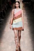 Платье из цветных полосок Valentino