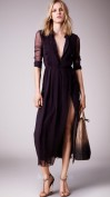 Платье из шелка в классическом стиле Burberry
