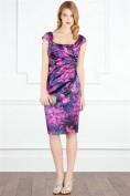 Фиолетовое коктейльное платье с цветочным принтом Coast