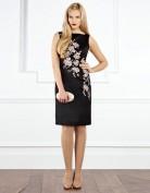 Черное коктейльное платье украшенное вышивкой Coast