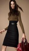 Стильное комбинированное платье Burberry