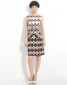 Повседневное коричневое платье без рукавов Anne Klein