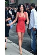 Облегающее красное мини платье Herve Leger