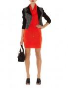 Короткое красное платье с воротником-хомут Asos