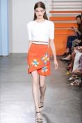 Красивое летнее платье с оранжевой юбкой Tanya Taylor