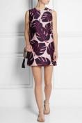 Короткое нежно-розовое платье с оригинальным принтом Roberto Cavalli