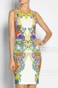 Яркое облегающее платье-футляр Roberto Cavalli