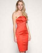 Красное платье-бюстье из атласа Asos