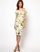 Легкое платье-футляр зеленого цвета Asos