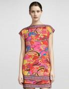 Трикотажное платье-туника оранжевого цвета Emilio Pucci