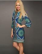 Синее платье-туника в этно стиле Emilio Pucci