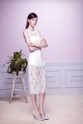 Белое платье из гипюра Antonio Berardi