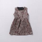Детское платье из парчи Dolce and Gabbana