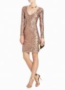 Вечернее платье из золотых паеток BCBG MaxAzria
