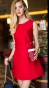 Красное платье с бантиками Valentino